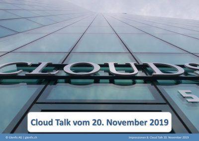 CLoud Talk 20.11.2019
