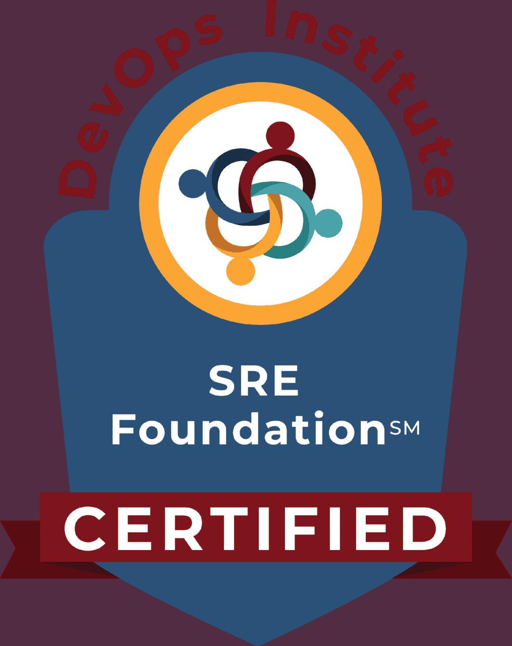 Abbildung 5: Site Reliability Engineering SRE Foundation Zertifikat
